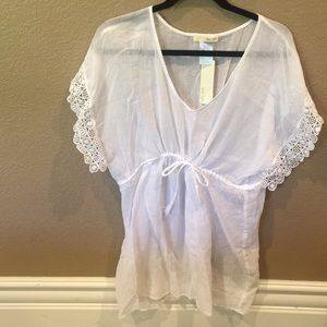 Other - [NEW]: Sheer White Swim Cover-Up